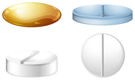 Illustration of a medicine container on a white background Vector