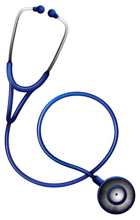 hollow body: Illustration of a stethoscope on a white background