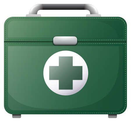 suit case: Illustration of a medical bag on a white background Illustration