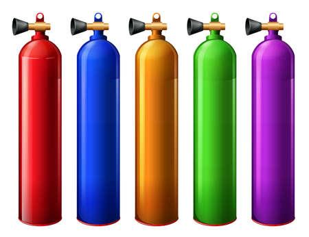 propellant: Illustration of the oxygen tanks on a white background Illustration