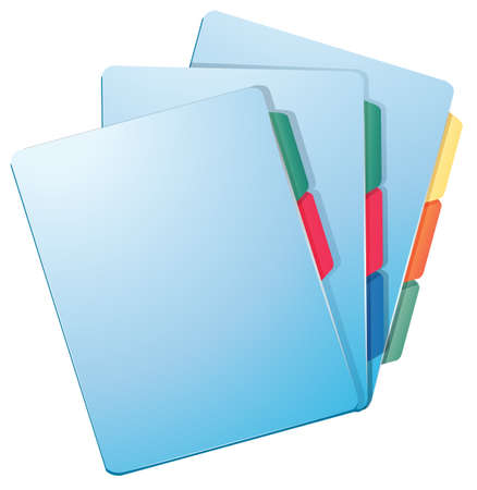Illustration of the nurse files on a white background Vector
