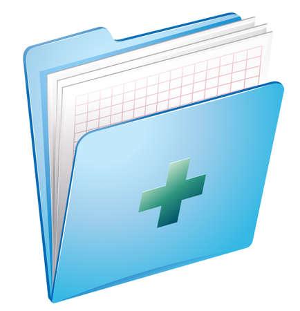 흰색 배경에 의료 기록의 그림