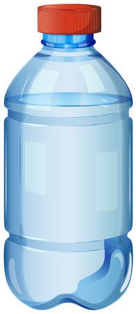 solvant: Illustration d'une bouteille d'eau potable sur un fond blanc Illustration