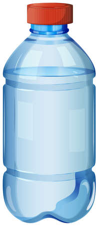 safe water: Illustration of a bottle of safe drinking water on a white background