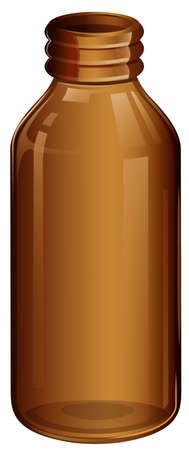 brown bottle: Illustration of a medical bottle on a white background Illustration