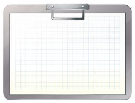 history background: Illustration of an empty medical nurse file on a white background