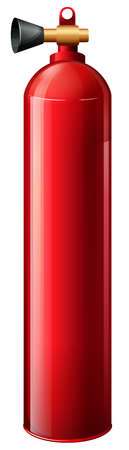 Illustration of a red oxygen tank on a white background Vector