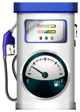 Illustration of a petrol pump on a white background