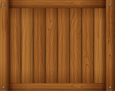 signboard: Illustration of a wooden empty board Illustration