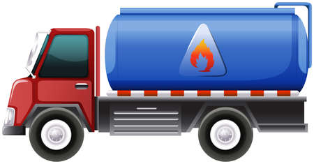 motor vehicle: Illustration of a diesel truck on a white background