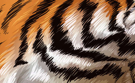 perceived: Illustration of a tiger texture