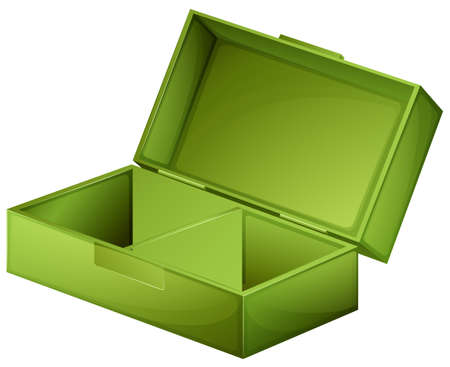 medical box: Illustration of a green medical box on a white background
