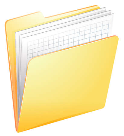 patient chart: Illustration of a nurse file in a folder on a white background Illustration