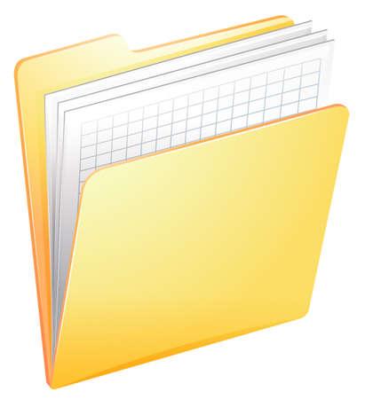 documentation: Illustration of a nurse file in a folder on a white background Illustration