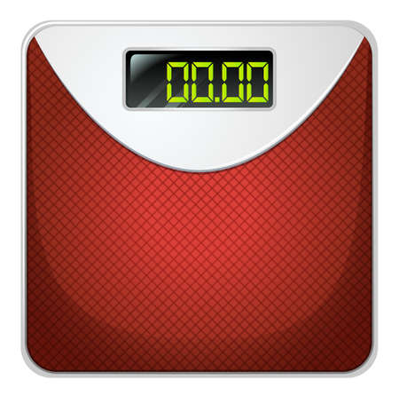 Illustration of a weighing device on a white background Illustration