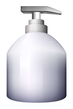 dispensing: Illustration of a white spray bottle on a white background Illustration