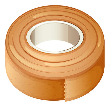 Illustration of a plaster for first-aid on a white background Vector