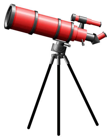 tele: Illustration of a telescope on a white background