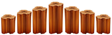 stumps: Illustration of the growing tree stumps on a white background