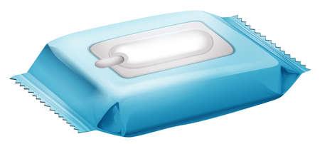 Ilustración de una toallitas para bebé sobre un fondo blanco Vectores