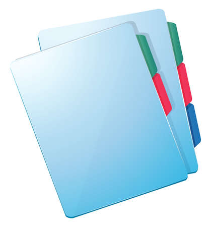 Illustration of the blue nurse files on a white background Vector