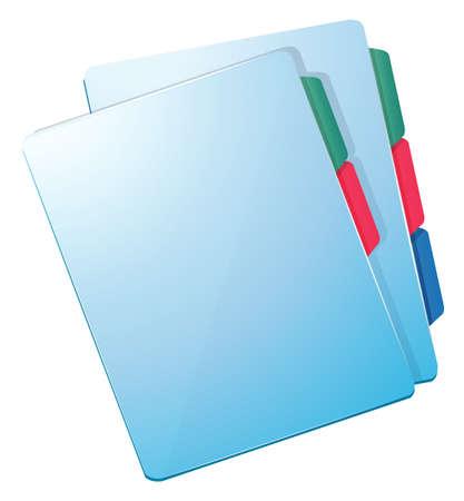 documentation: Illustration of the blue nurse files on a white background Illustration