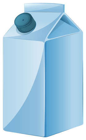 sip: Illustration of a milk container on a white background Illustration