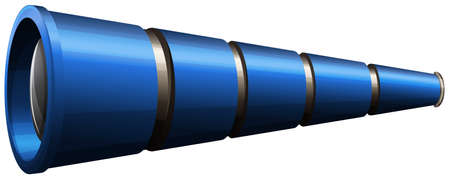 electromagnetic radiation: Illustration of a telescope on a white background