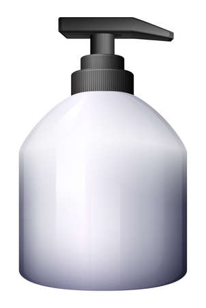 dispensing: Illustration of a pump-style spray bottle on a white background Illustration