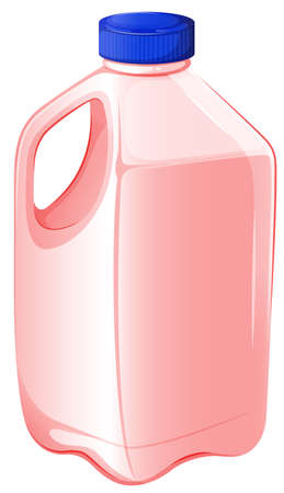gal: Illustration of a gallon of strawberry milk on a white background Illustration