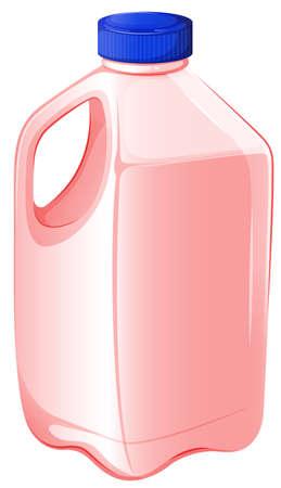 gallon: Illustration of a gallon of strawberry milk on a white background Illustration