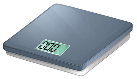 weighing scales: Illustration of a bathroom electronic scale on a white background Illustration