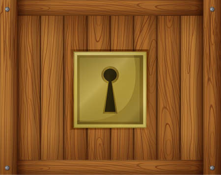 keycard: Illustration of a door lock