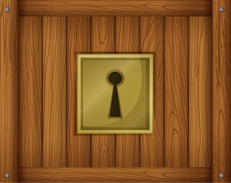 fastening: Illustration of a door lock