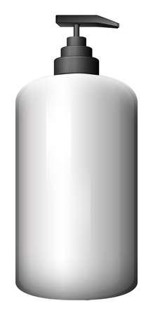 Illustration of a pump-style bottle on a white background Illustration