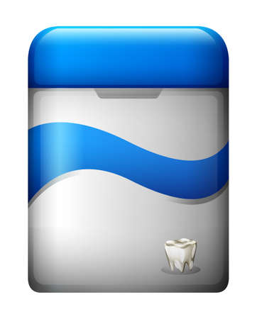 halitosis: Illustration of a dental floss on a white background