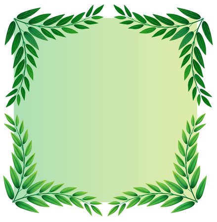 green plants: Illustration of a leafy template on a white background Illustration