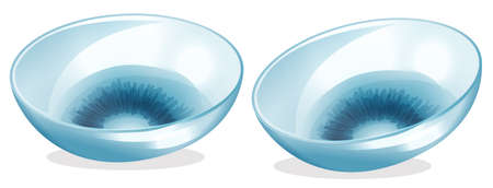 therapeutic: Illustration of the contact lenses on a white background