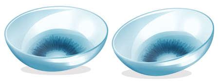 lentes de contacto: Ilustraci�n de las lentes de contacto en un fondo blanco