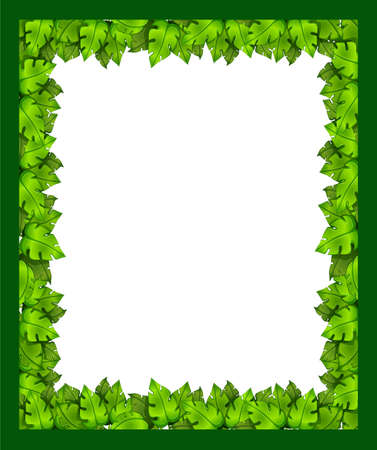 margen: Ilustración de una frontera hecha de hojas
