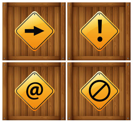 Illustration of the four different signs on a white background Vector