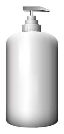 dispensing: Illustration of a gray spray bottle on a white background