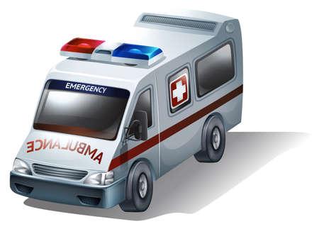 emergency vehicle: Illustrazione di un veicolo di emergenza su uno sfondo bianco