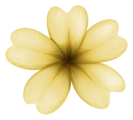 flower blooming: Illustration of a light brown flower on a white background