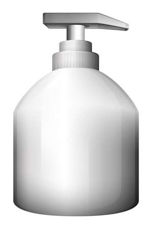 dispensing: Illustration of a lotion bottle on a white background