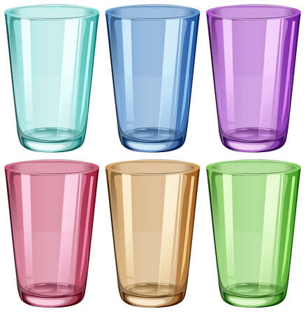 amorphous: Illustration of the clear drinking glasses on a white background Illustration