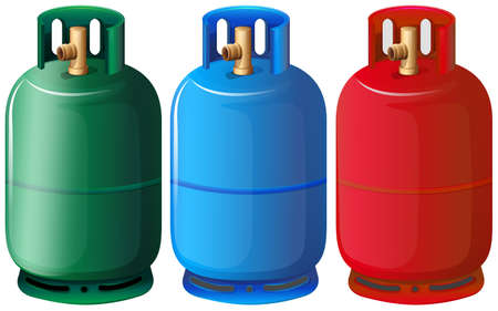 Illustration of the gas tanks on a white background