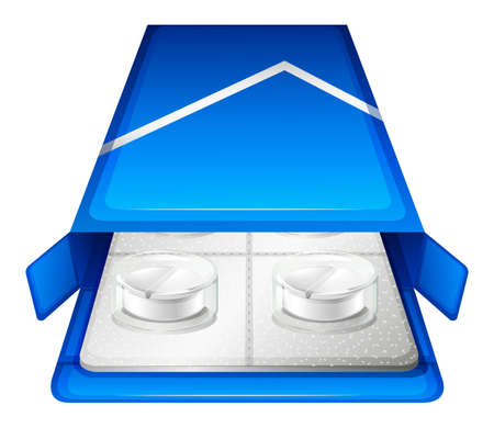 packaging aids: Illustration of a pack of medical tablet on a white background