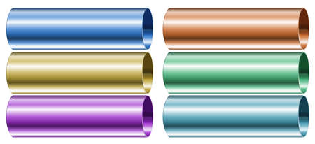 masses: Illustration of the neon colored pipes on a white background