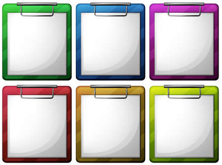 Illustration of the empty nurse files on a white background